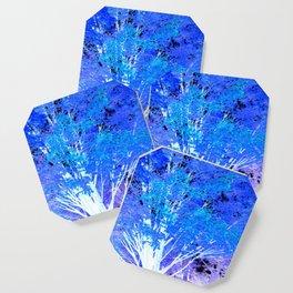 Blue Violet tree leaves Coaster