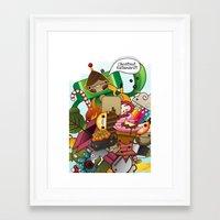 katamari Framed Art Prints featuring Chestnut Katamari by Ed Warner