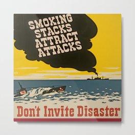 Vintage Naval Poster Metal Print