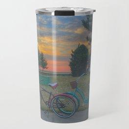 Bikes at Sunset Travel Mug