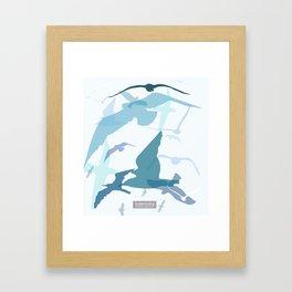 Seaside Birds Framed Art Print