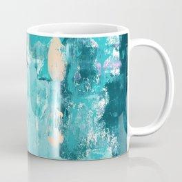 020: a vibrant abstract design in teal and peach by Alyssa Hamilton Art  Coffee Mug