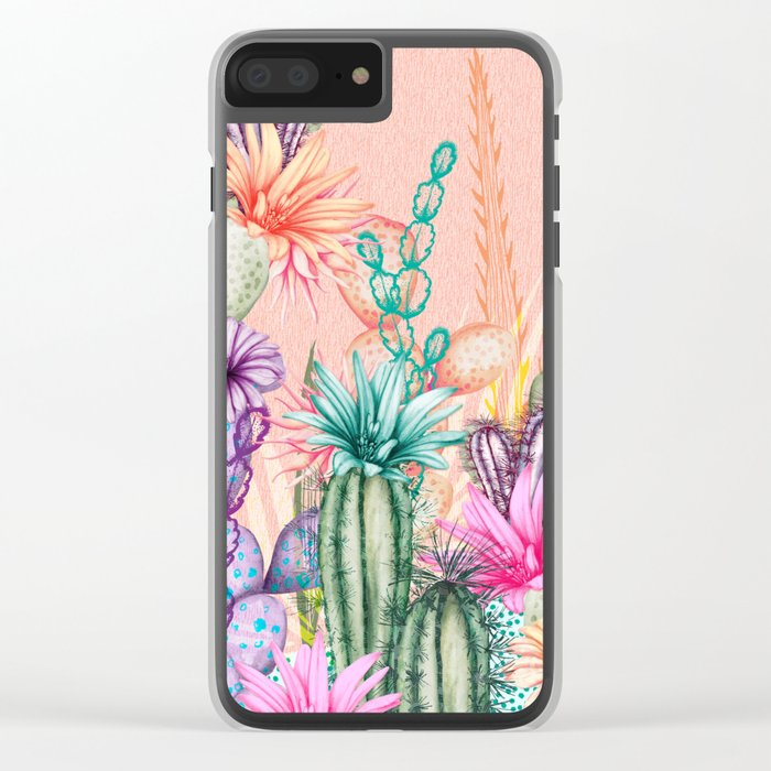 Cacti Love Clear iPhone Case