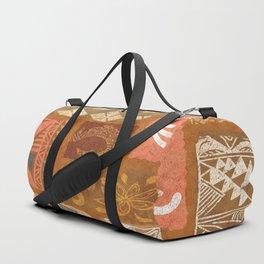 Vintage Hawaiian Tapa Collage Duffle Bag