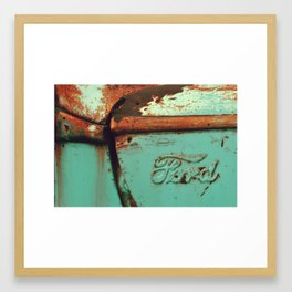 ford green Framed Art Print