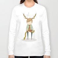 antler Long Sleeve T-shirts featuring Antler boy by bearfish