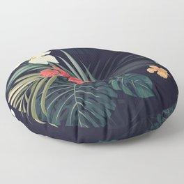 Dark tropical Floor Pillow