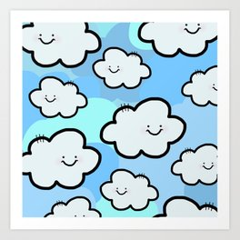 Cheery Cloud Cluster Art Print