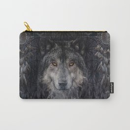 Winter mode - Wolf Dreamcatcher Carry-All Pouch