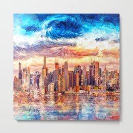 Artistic II - Abstract City Metal Print