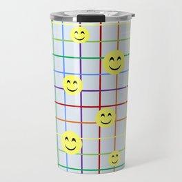 Colorful Smileys Travel Mug