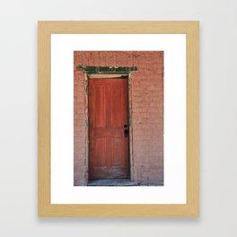 pioneer door Framed Art Print