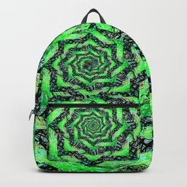 Folding Green Paper into Zigzags Backpack