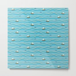 Sailing pattern 1c Metal Print