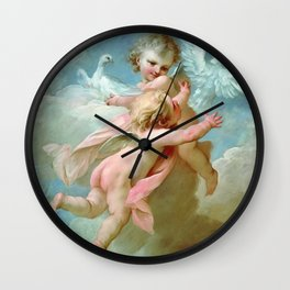 "François Boucher ""Angels and Doves"" Wall Clock"
