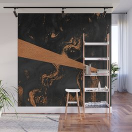 Black and copper flowing art Wall Mural