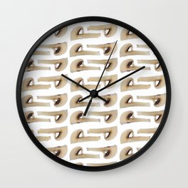 Many champignon slices pattern Wall Clock