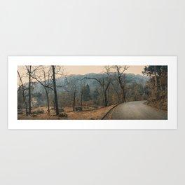Mountain road. Peneda - Geres National Park, Portugal. Art Print