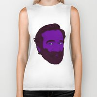 robin williams Biker Tanks featuring Robin Williams by Cédric Day-Myer