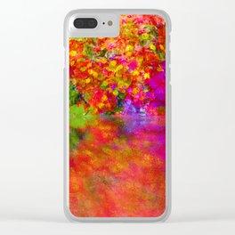 Potpourri flowers reflection Clear iPhone Case