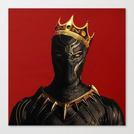 Black Panther King Wakanda Forever T'Challa Shirt Canvas Print