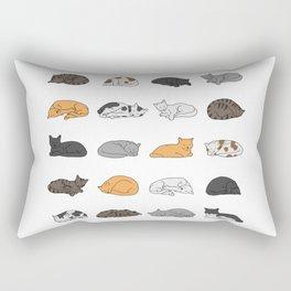Kitty Cat Pattern Rectangular Pillow