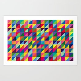 Geometric Pattern #7 Art Print