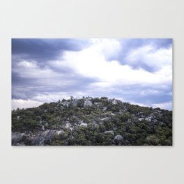 Storm Threatened Mountain Canvas Print