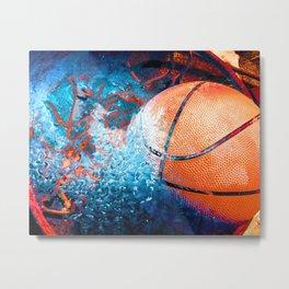 Unique Basketball Art Metal Print