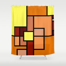 The Colors of / Mondrian Series - Lion King  Shower Curtain