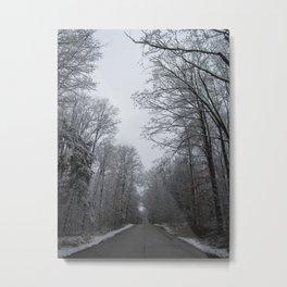 Take the long road and walk it Metal Print