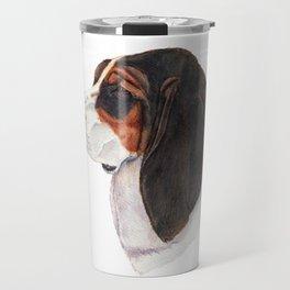 Basset hound - color Travel Mug