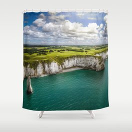 Colosssal world Shower Curtain