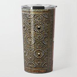 Gold Kaaba Door Travel Mug