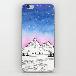 Camping Under The Stars iPhone Skin