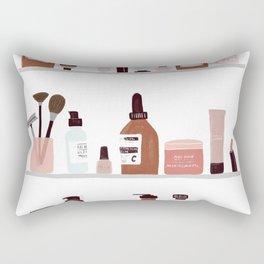 Make up shelfie Rectangular Pillow