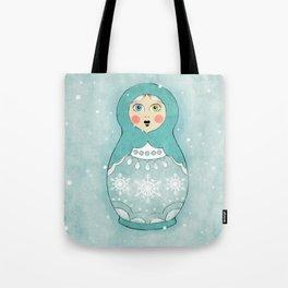 Snow Matryoshka Tote Bag