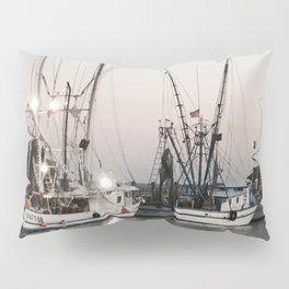 Fishing Boats on the Water at Sunset Pillow Sham