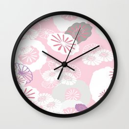 Pretty Poppies Seamless Repeating Pattern Wall Clock