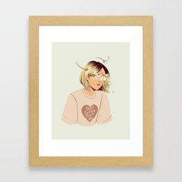 Flower Boy 01 Framed Art Print
