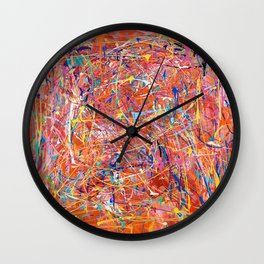 Orange Expression Wall Clock