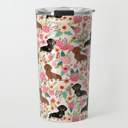 Dachshund florals pattern cute dog gifts by pet friendly dog breeds Travel Mug
