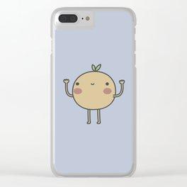 Happy Orange Clear iPhone Case