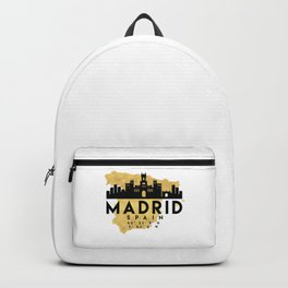 MADRID SPAIN SILHOUETTE SKYLINE MAP ART Backpack