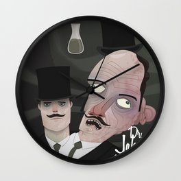 Jekyll and Hyde Wall Clock