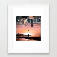 cityscape Framed Art Prints featuring Cityscape by Enkel Dika