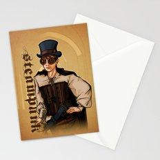 Steampunk Lady Stationery Cards