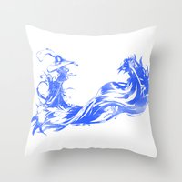 final fantasy Throw Pillows featuring FINAL FANTASY X  by DrakenStuff+