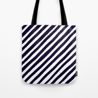 uncharted Tote Bags featuring Uncharted Lines by Social Proper