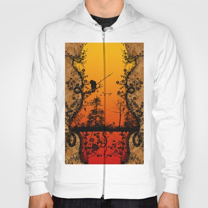 Trees and birds  Hoody